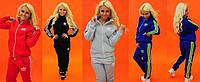Женский теплый спортивный костюм Adidas на змейке в расцветках