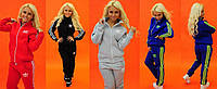Женский теплый спортивный костюм Adidas на змейке \ батал