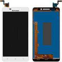 Дисплей (экран) для телефона Lenovo A5000 + Touchscreen White