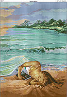 Схема вышивки бисером на габардине Крепкие объятия
