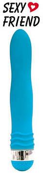 ВибромассажВибратор р L 175 мм D 29 мм цвет голубой