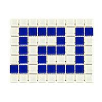 Фриз греческий Aquaviva Cristall W/B бело-синий