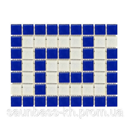Фриз греческий Aquaviva Cristall B/W сине-белый