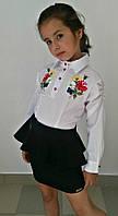 Детская школьная юбка с баской 502-1 / в расцветках, фото 1