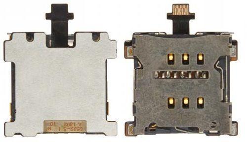 Шлейф HTC One M7 801e с разъемом SIM-карты