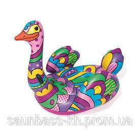Плавальний круг Bestway 41117 Поп-арт страус (190х166)