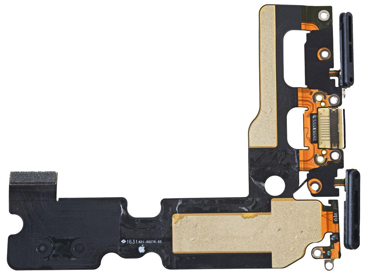 Шлейф Apple iPhone 7 Plus с разъемом зарядки, наушников и микрофоном Original Black