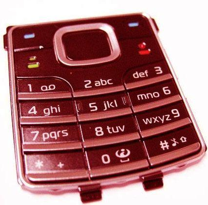 Клавиатура (кнопки) Nokia 6500 Classic Red