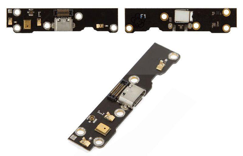Шлейф Meizu MX3 нижняя плата с коннектором зарядки и микрофоном