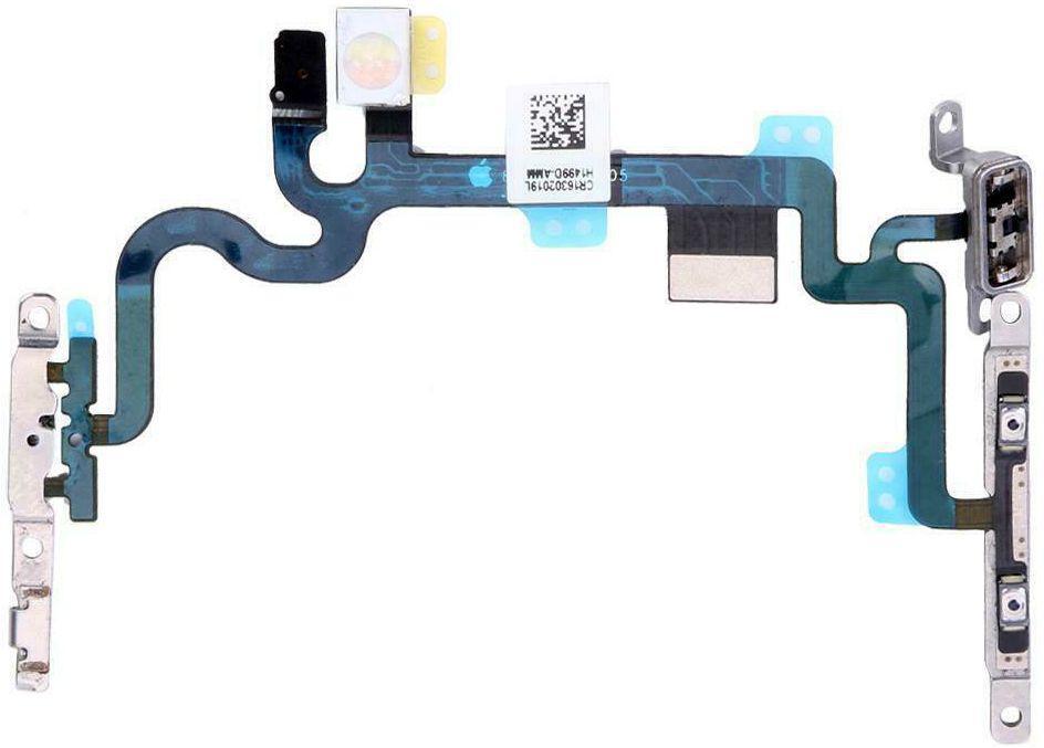 Шлейф Apple iPhone 7 со вспышкой, кнопкой включения / регулировки громкости и микрофоном