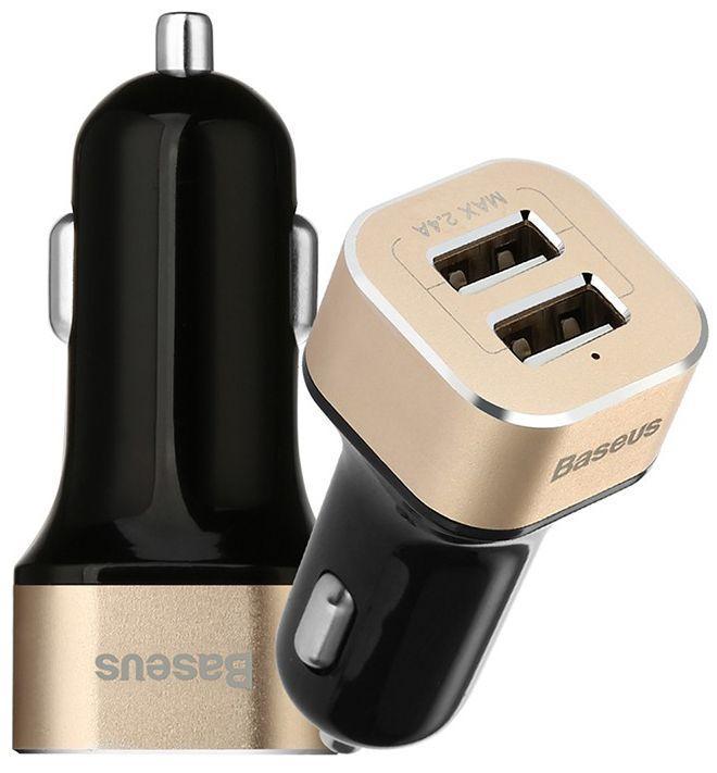Автомобильное зарядное устройство  Baseus Smart Voyage Series Dual USB Black/Gold (CCALL-HG21V)