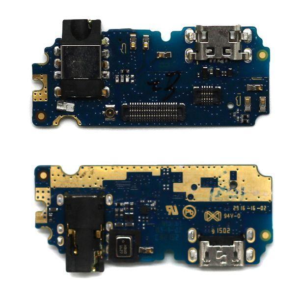 Шлейф Meizu U10 (U680H) нижняя плата с разъемом зарядки, наушников и микрофоном