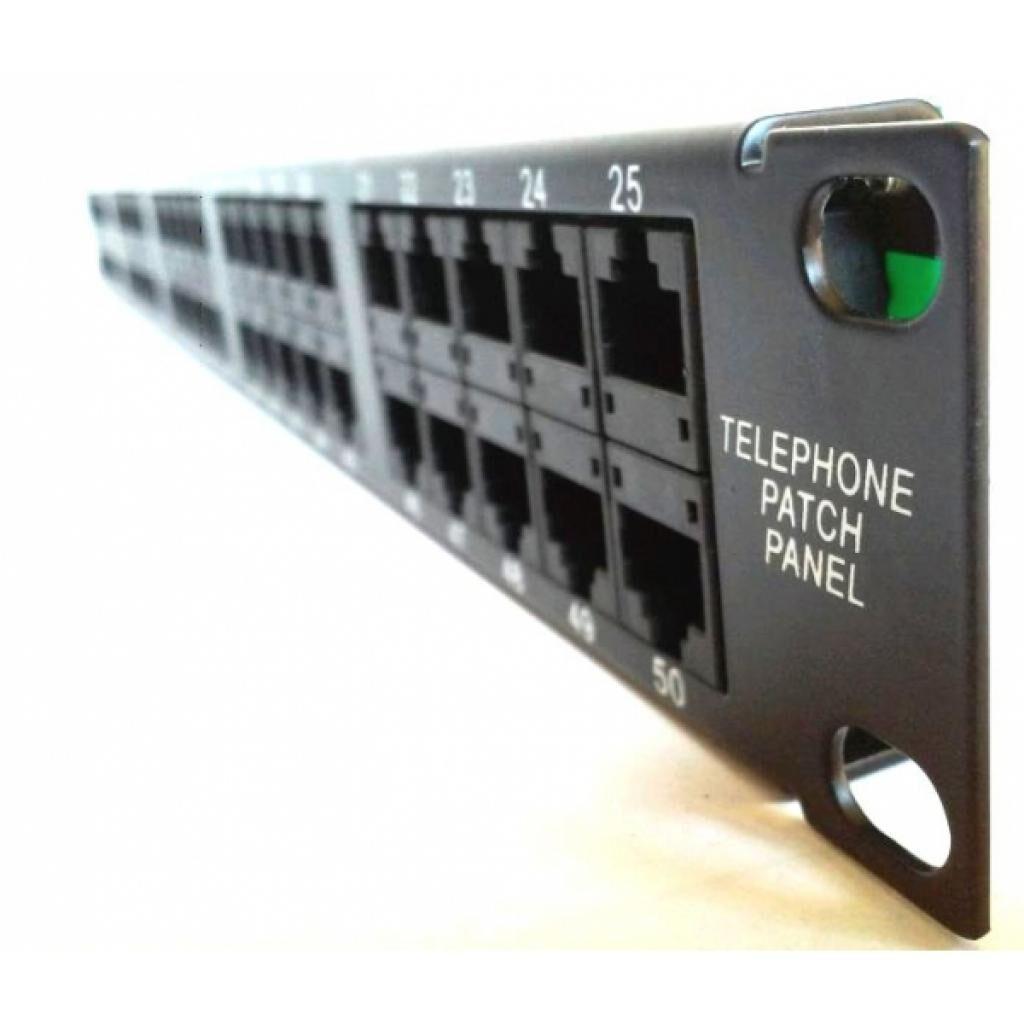 """Патч-панель Hypernet 19"""" телефонная 1U, 50xRJ-45, Cat.3 (PP-TKUTP50-3)"""