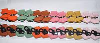Цветной бантик на тонкой резинке (12шт.)