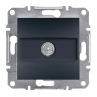 Розетка TV проходная 4 dB антрацит Asfora Plus EPH3200271
