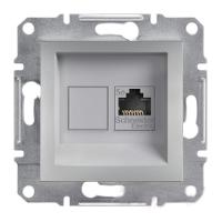 Розетка компьютерная RJ45 алюминий Asfora Plus EPH4300161