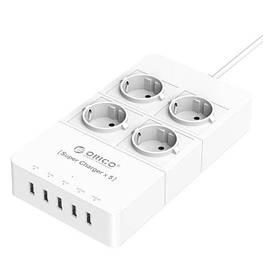 Сетевой фильтр зарядка ORICO HPC-4A5U 4 розетки 5 USB 1.5 метра