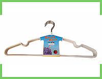 Вешалки плечики силикон (40 см), неповоротный, для одежды, (белый), фото 1