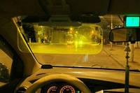 Солнцезащитный антибликовый козырек в авто HD Visor Clear View  - четкая видимость ночью и днем!