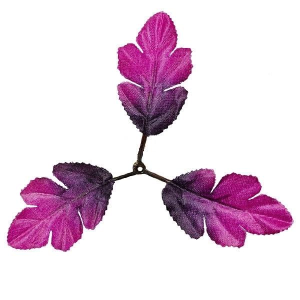 Лист калины цветной пурпурный 18см (100 шт. в уп.)
