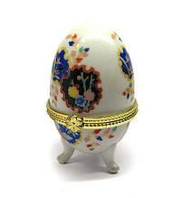 Оригінальна скринька з кераміки яйце з візерунком