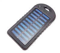 Solar Power Bank ES500 на 20000 mAh+ LED фонарик,  Black