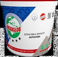Шпаклевка акриловая ANSERGLOB супер-белая для внутренних работ, финиш (1,5 кг)
