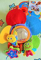 Детская игрушка от 0+ Игрушка-подвеска с колокольчиком и зеркальцем ОКЕАН тм Biba Toys