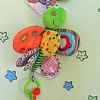 Детская игрушка от 0+ Игрушка-подвеска drag Активная ЗАНИМАТЕЛЬНАЯ СТРЕКОЗА тм Biba Toys