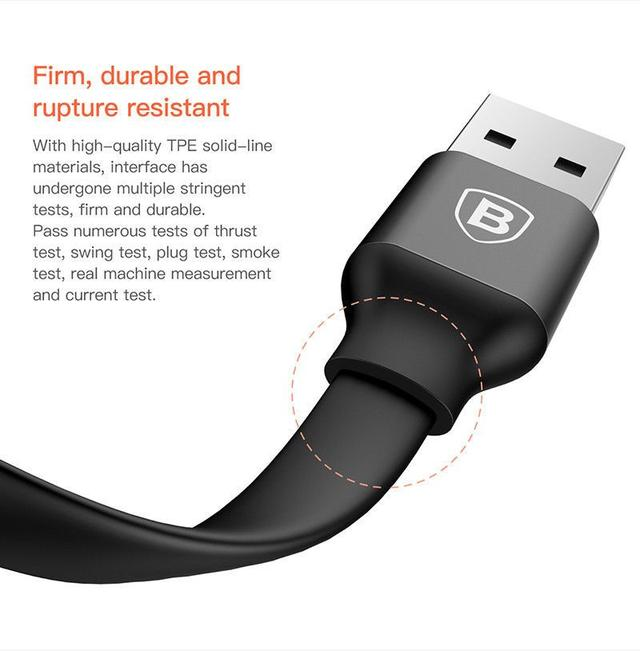 Кабель USB-Lightning/MicroUSB Baseus Two-in-one Portable Cable CALMBJ-01 Черный 0.23м