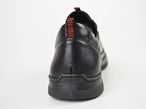 Кроссовки черные кожаные Kadar 3635253, фото 2