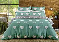 Постельное белье ТЕП ранфорс 003 Mint Love hearts Двуспальный комплект
