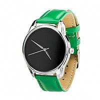 Часы ZIZ Минимализм черный зеленый, серебро - второй ремешок в подарок 4600365