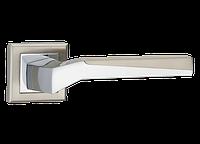 Дверные ручки MVM Z-1319 SN/CP - матовый никель/хром, фото 1