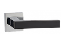 Дверные ручки MVM Z-1410 BLACK - матовый черный/CP