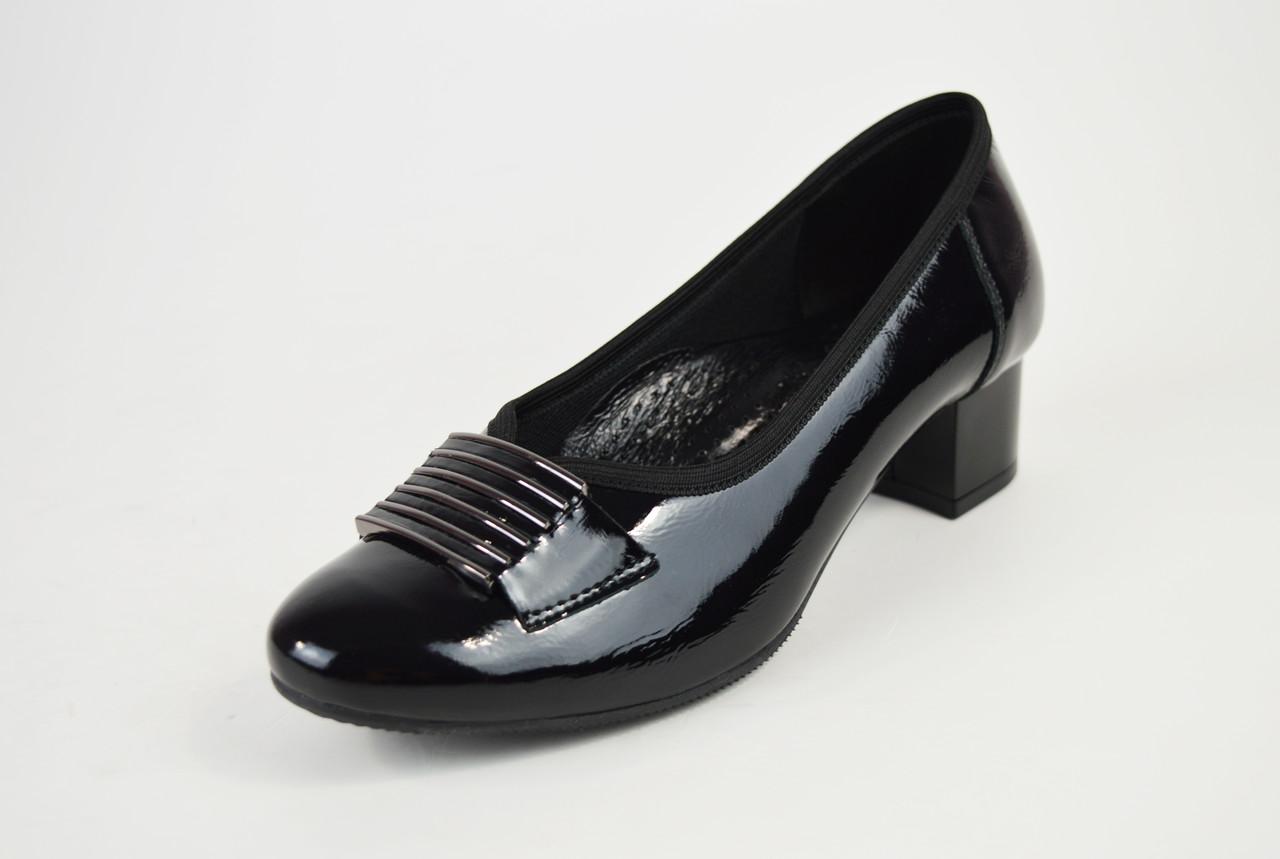 Туфли Aspena кожа лак черные 2205
