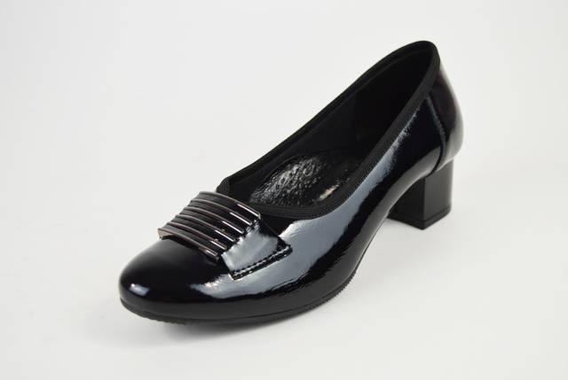 Туфли Aspena кожа лак черные 2205, фото 2