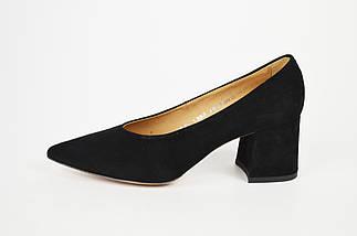 Туфли Marco замша на каблуке черные 1456, фото 2