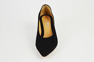 Туфли Marco замша на каблуке черные 1456, фото 3