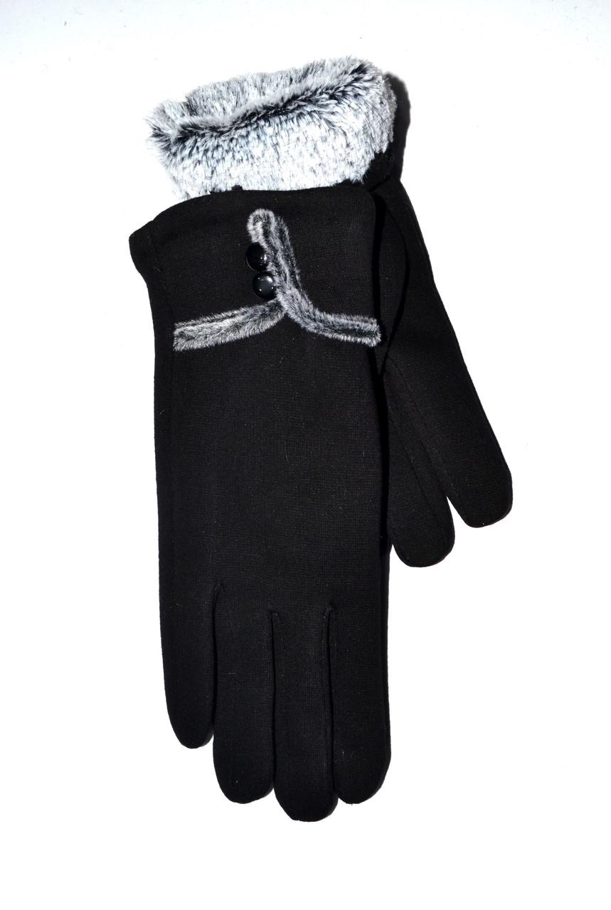 Женские перчатки трикотаж/кролик от 10 пар оптом