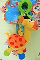 Детская игрушка от 0+ Игрушка-подвеска вибрирующая с зажимом Жираф тм Biba Toys