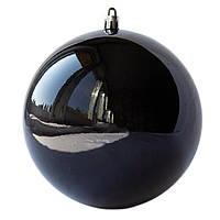 Шар пластиковый глянцевый d-12см, черный (891107)
