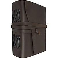 Блокнот кожаный COMFY STRAP темно-коричневый А5 (20,5х15,0х4,0 см), фото 2