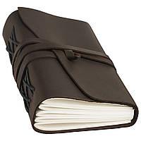 Блокнот кожаный COMFY STRAP темно-коричневый А5 (20,5х15,0х4,0 см), фото 3