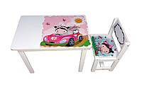 Детский стол и стул BSM1-09 girl in car - девочка в авто