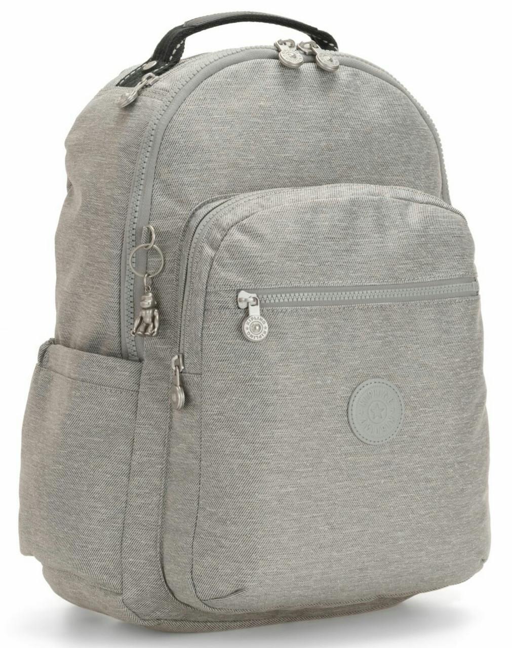 Рюкзак городской из ткани Kipling Peppery серый 16л