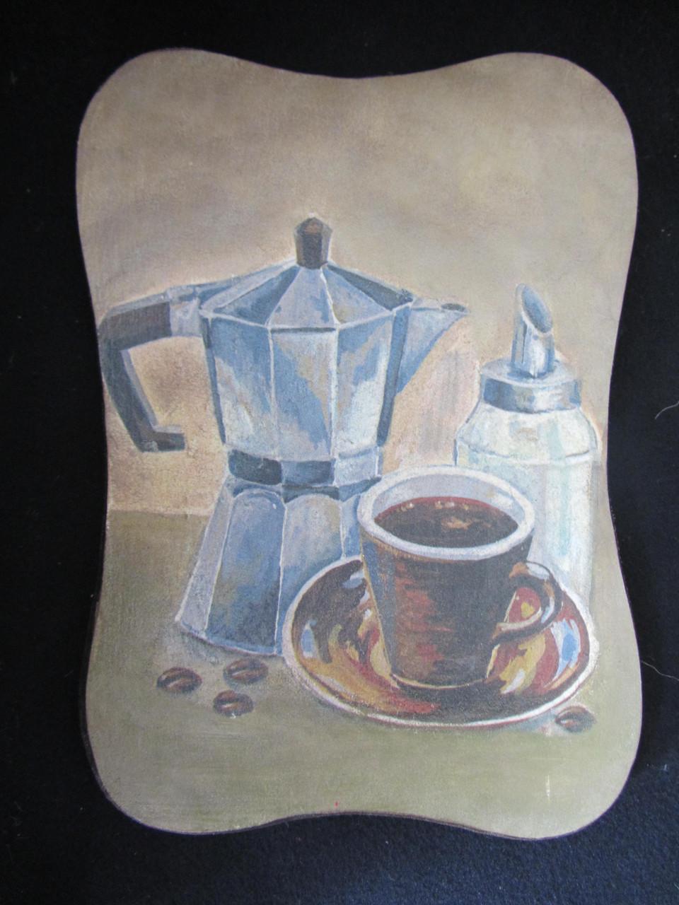 """Картина деревянная """"Кофе"""" (декупаж, hand made), 26х19х1,5см, 100\90 (цена за 1 шт.+10 грн)"""