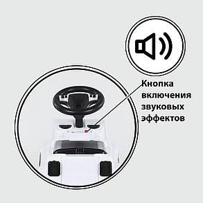 Машина-Толокар с ручкой 809 CR-12400 JOY  БЕЛЫЙ, РУССКОЕ ОЗВУЧИВАНИЕ, СВЕТОВЫЕ ЭФФЕКТЫ,  защитный бампер, фото 2