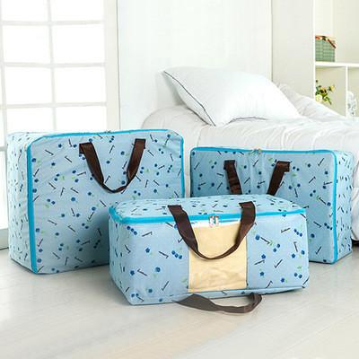 Сумка для одеял оксфорд Genner Вишенки 55х45х28см L Голубая (01098/033)