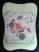 "Картина деревянная ""Подсолнух"" (декупаж, hand made), 26х19х1,5см, 100\90(цена за 1 шт.+10 грн)"